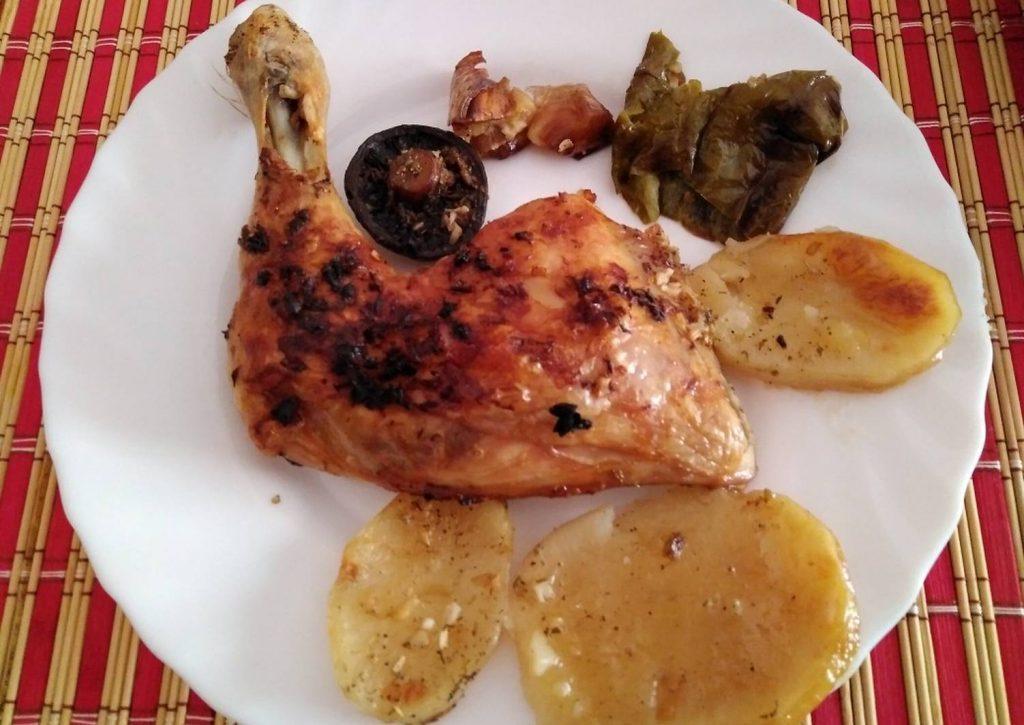 pierna de pollo al brandy